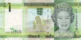 1 Jersey Pound banknote series 2010
