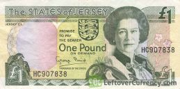 1 Jersey Pound banknote (St. Helier Parish Church)