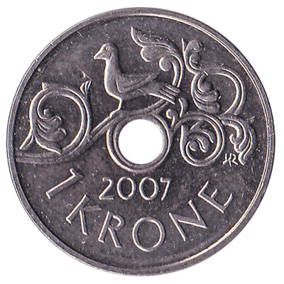 1 Norwegian Krone coin