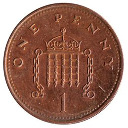1 Penny coin Great Britain