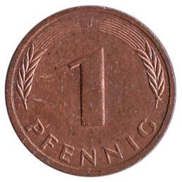 1 Pfennig coin Germany