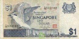 1 Singapore Dollar banknote (Bird series)