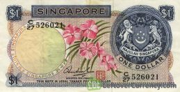 1 Singapore Dollar banknote (Orchids series)