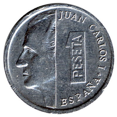 1 Spanish Peseta coin