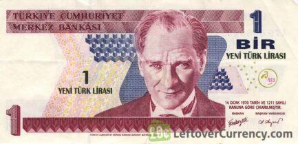 1 Turkish Lira banknote (8th emission group 2005)