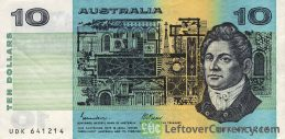 10 Australian Dollars banknote (Commonwealth of Australia series 1974)