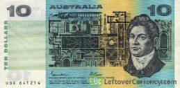 10 Australian Dollars banknote (Commonwealth of Australia series 1974)