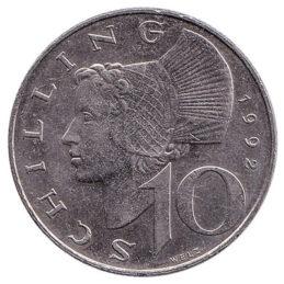 10 Austrian Schilling coin