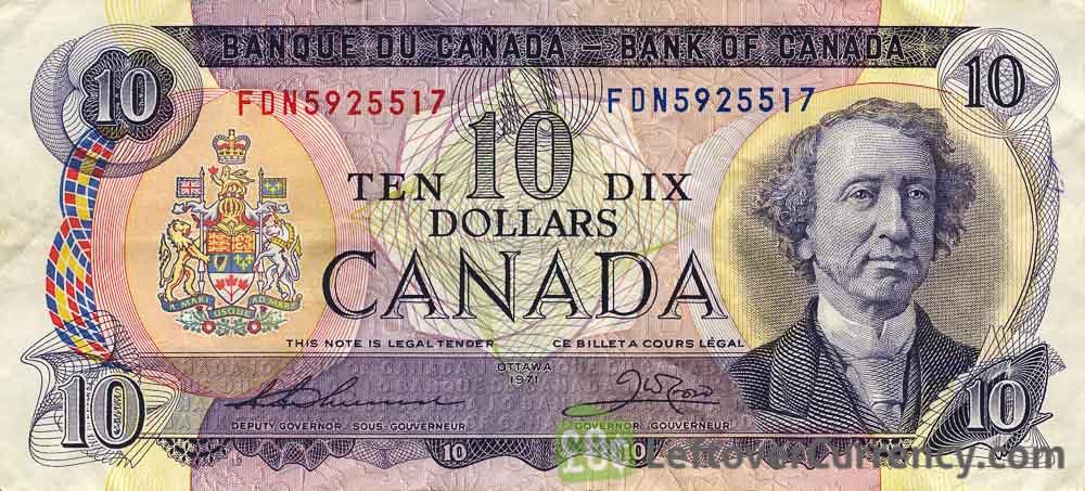 10 Canadian Dollars banknote (Sarnia Scenes of Canada)