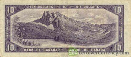 10 Canadian Dollars banknote series 1954