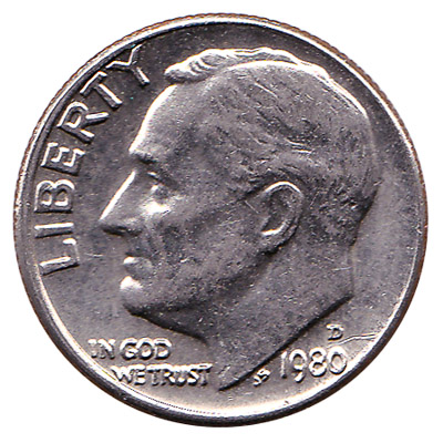 10 Cents coin United States Dollar (dime)