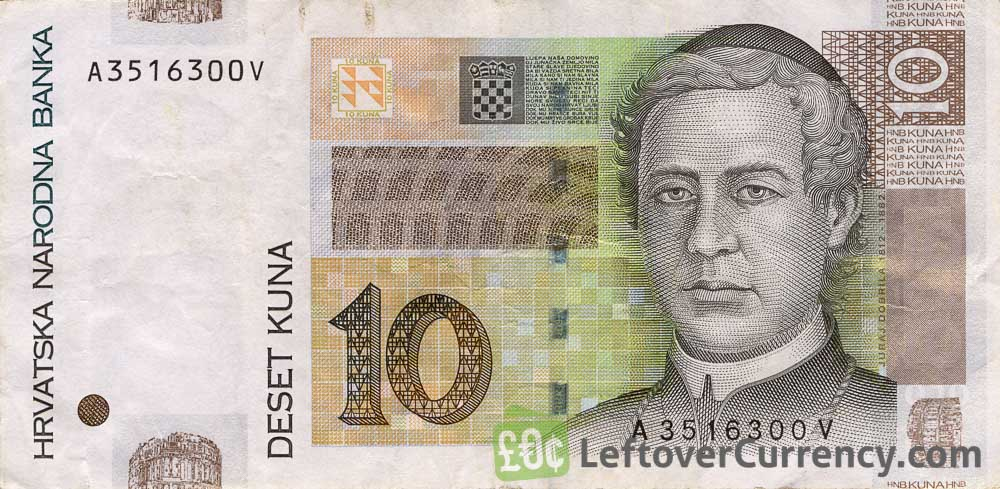 10 Croatian Kuna banknote series 2001