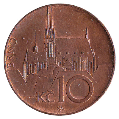 10 Czech Koruna coin