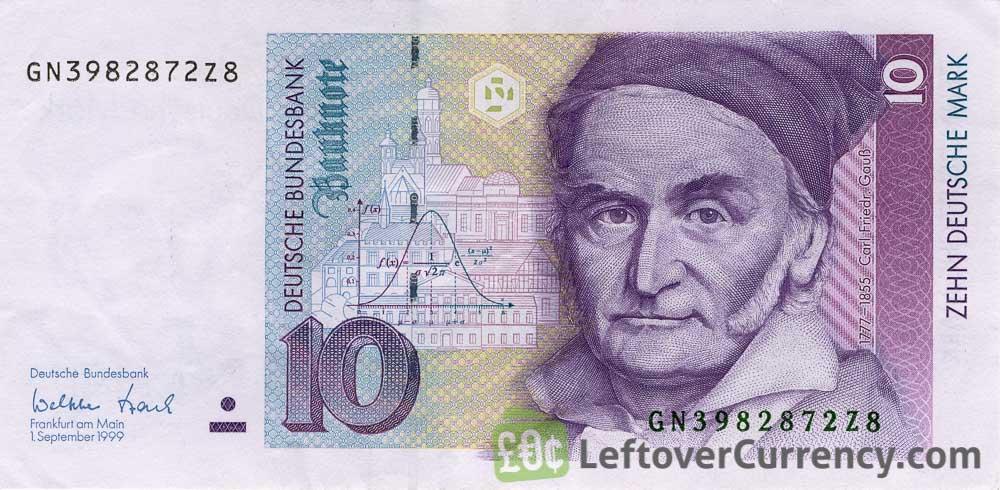 10 Deutsche Marks banknote (Carl Friedrich Gauss)