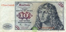 10 Deutsche Marks banknote (Sailing ship)