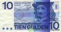 10 Dutch Guilders banknote (Frans Hals 1968)
