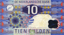 10 Dutch Guilders banknote (Ijsvogel 1997)