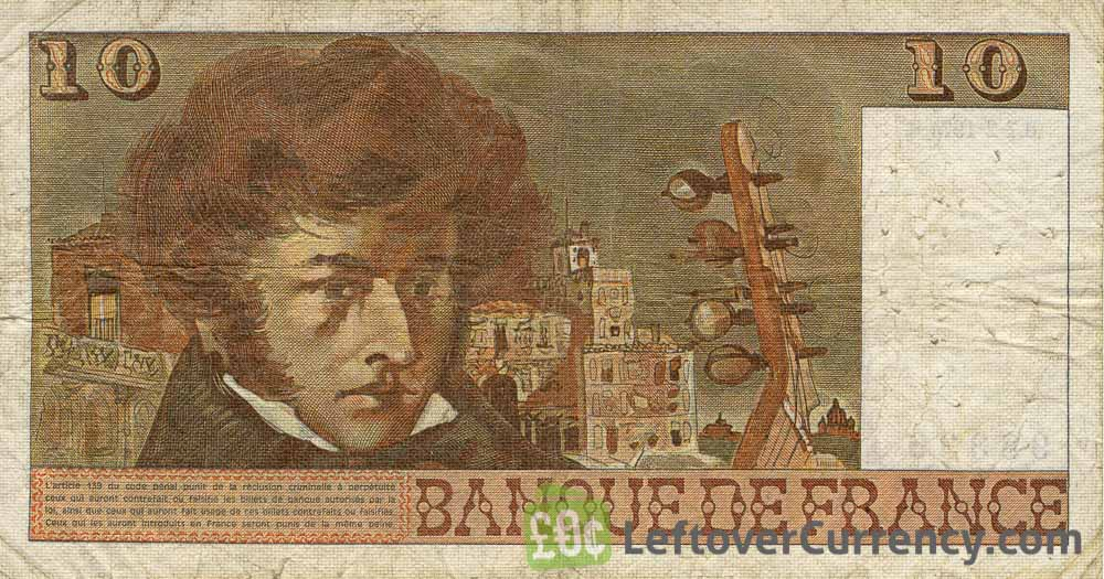 10 French Francs banknote (Hector Berlioz)