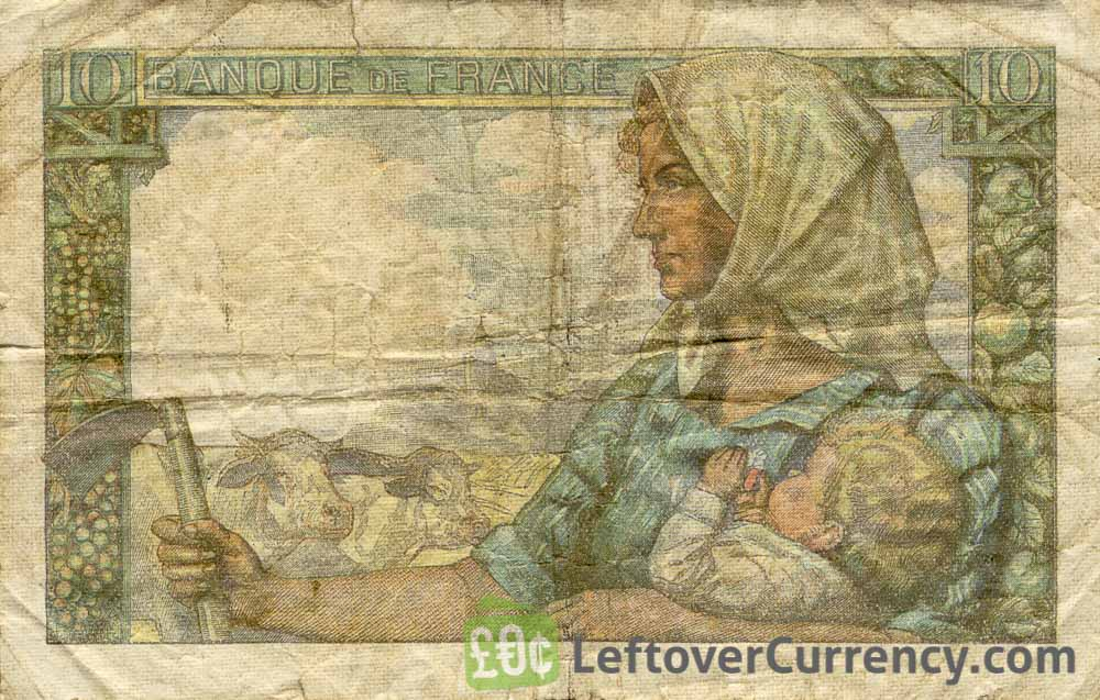 10 French Francs banknote Mineur (miner)