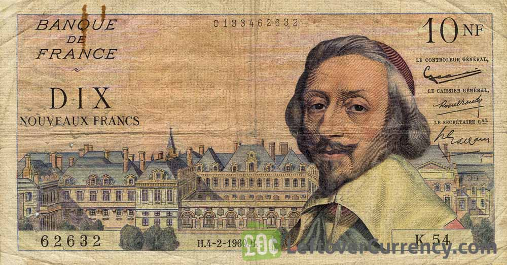10 French Francs banknote (Richelieu)