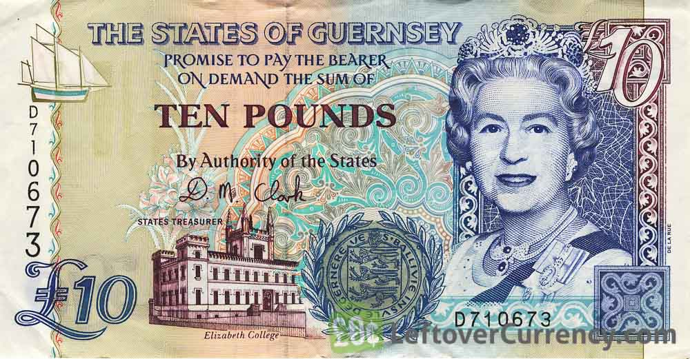 10 Guernsey Pounds banknote (Elizabeth College)