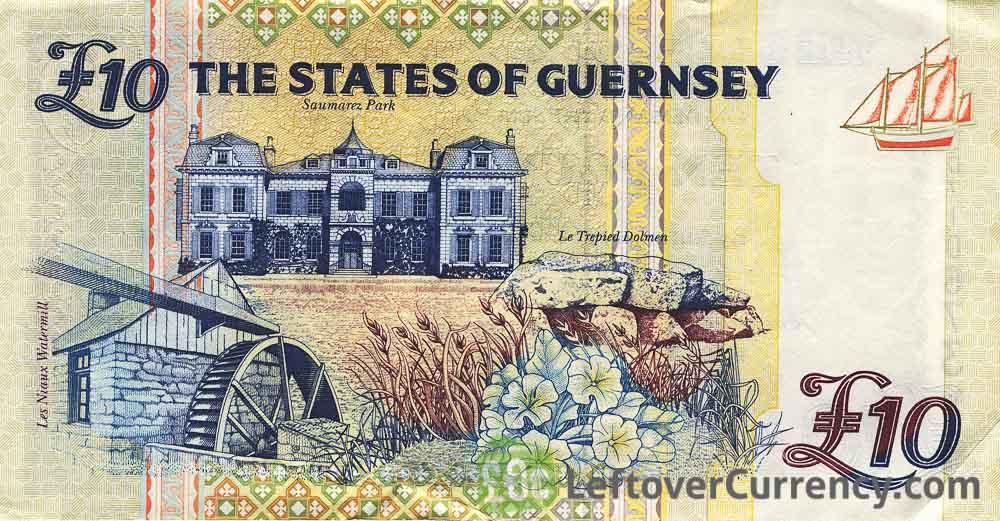10 Guernsey Pounds banknote (Elizabeth College)