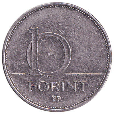 10 Hungarian Forints coin