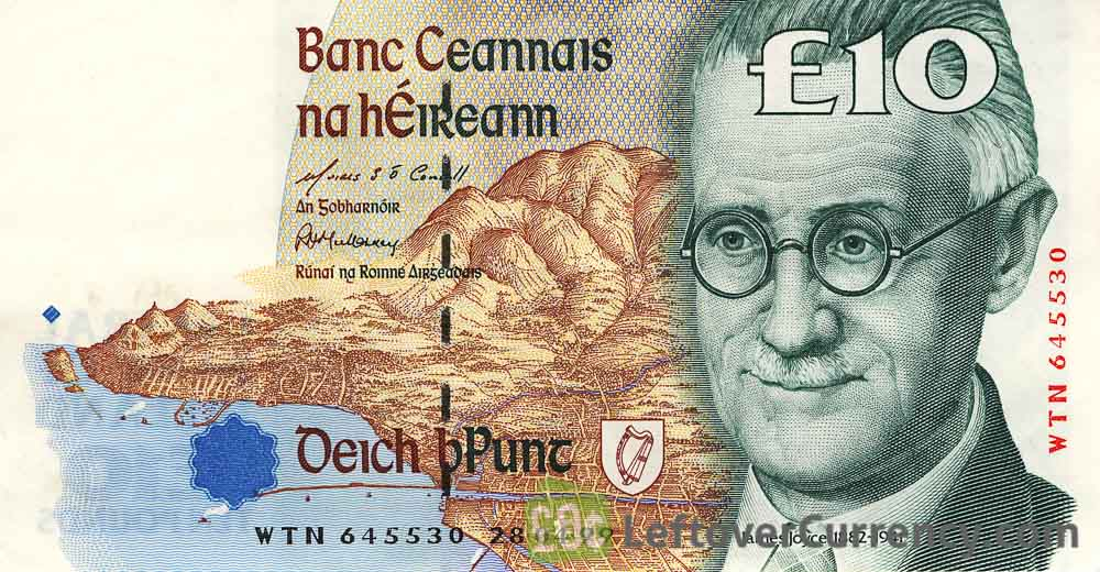 10 Irish Pounds banknote (James Joyce)