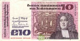 10 Irish Pounds banknote (Jonathan Swift)