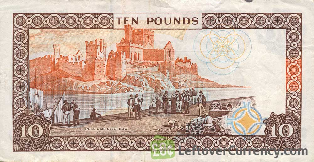 10 Isle of Man Pounds banknote (Peel Castle)