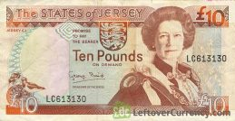10 Jersey Pounds banknote (Battle of Jersey)