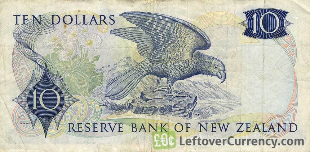 10 New Zealand Dollars banknote series 1967
