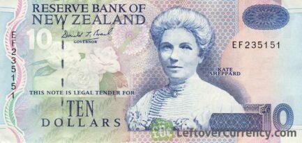 10 New Zealand Dollars banknote series 1992
