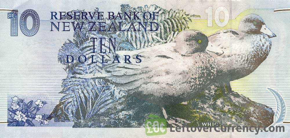 10 New Zealand Dollars banknote series 1992