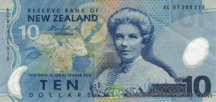 10 New Zealand Dollars banknote series 1999