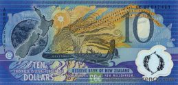 10 New Zealand Dollars banknote series 2000