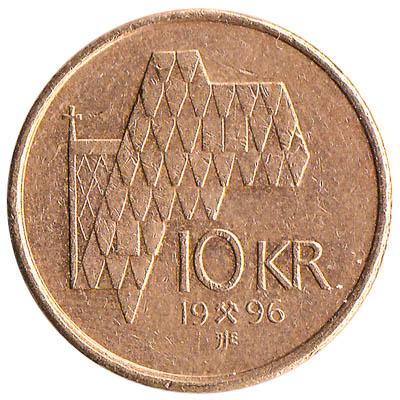 10 Norwegian Kroner coin