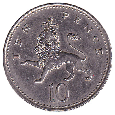 10 Pence coin Great Britain