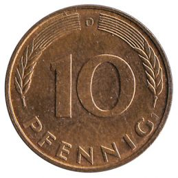 10 Pfennig coin Germany
