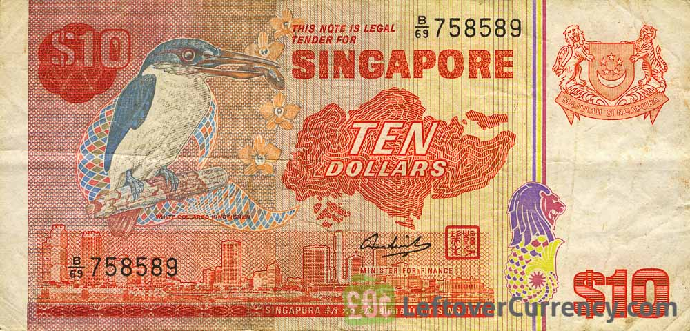 10 Singapore Dollars banknote (Bird series)