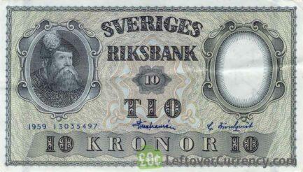 10 Swedish Kronor banknote (King Gustaf Vasa)