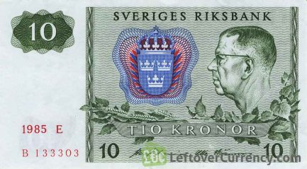 10 Swedish Kronor banknote (King Gustaf VI)