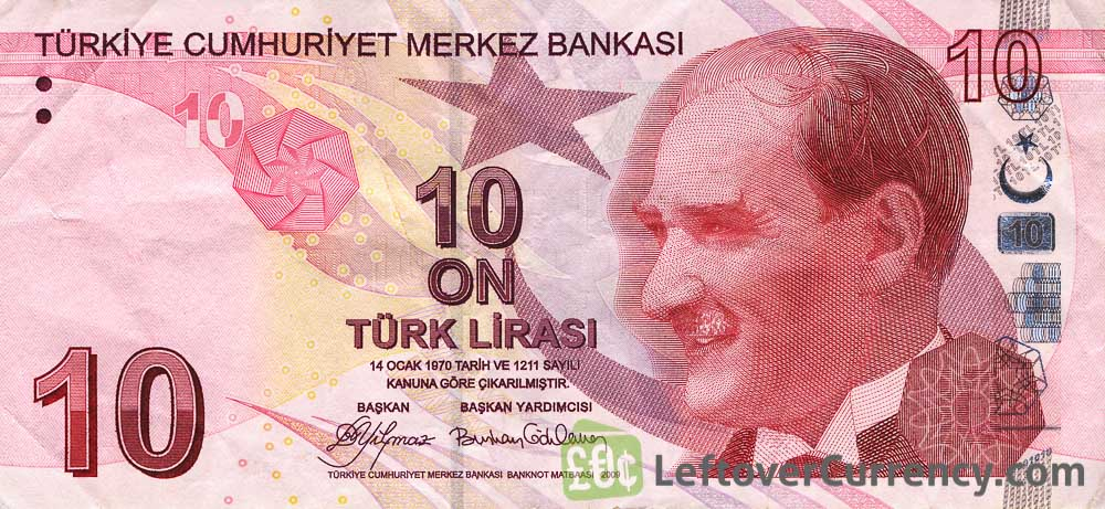10 Turkish Lira banknote (9th emission group 2009)