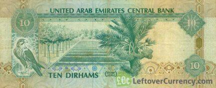 10 UAE Dirhams banknote