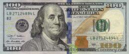 100 American Dollars banknote