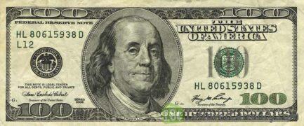 100 American Dollars banknote series 1996