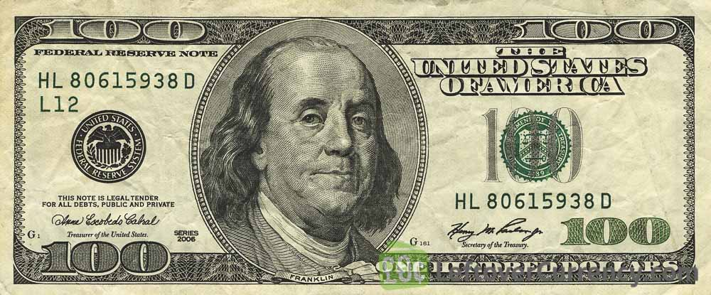 100 American Dollars Series 1996 Exchange Yours For Cash Today
