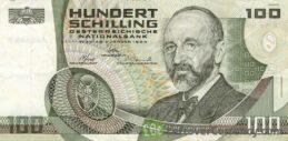 100 Austrian Schilling banknote (Eugen Bohm Ritter von Bawerk)