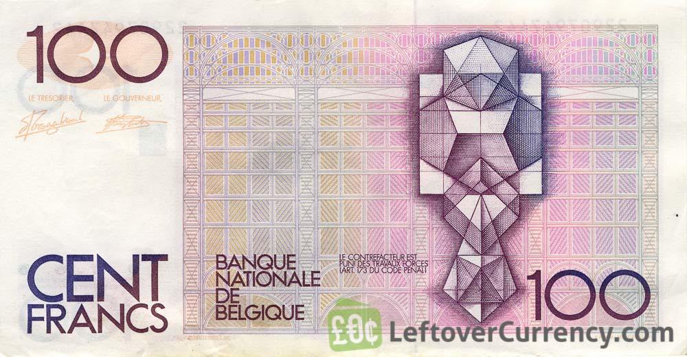 100 Belgian Francs banknote (Hendrik Beyaert)