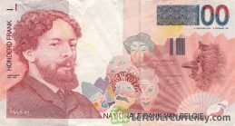 100 Belgian Francs banknote (James Ensor)